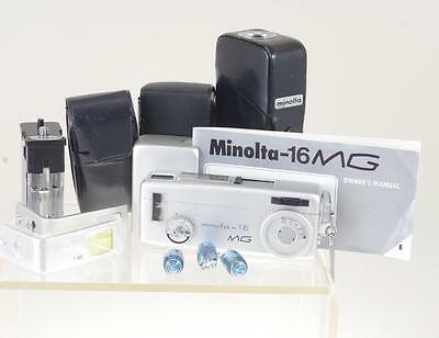 "Minolta-16 Mg Sub Miniature ""spy"" Camera -W Flash And Filters   Ref: 5349F"