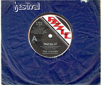 "The Sherbs (Sherbet) - Shaping Up - 7"" 45 Vinyl Record - 1982"