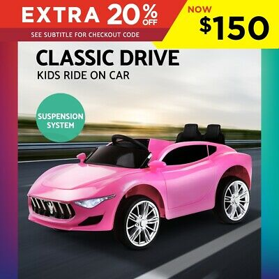 Kid Ride-On Car Maserati Inspired Style Electric Toy Remote Battery 12V Pink