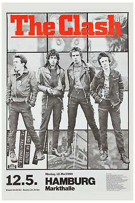 Brit Punk: The Clash at Germany Tour  Concert Poster 1980