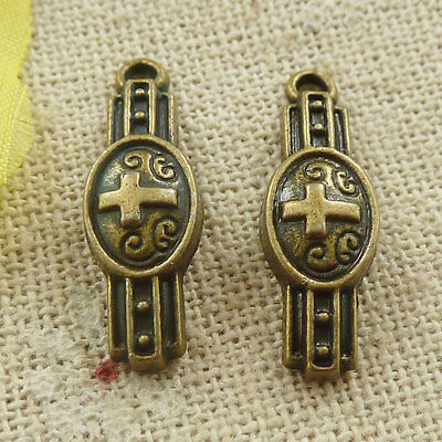Free Ship 190 pieces Antique bronze watch charms 23x8mm L-4673