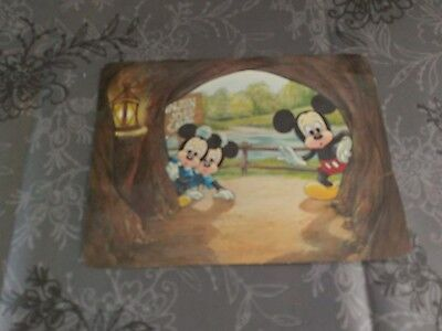 Mickey mouse postcard (The Unknown Beckons)