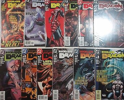 RICHARD DRAGON #1-12 (NM-) Full Set! DC 2004 Nightwing & Lady Shiva Appearances