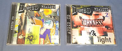 DISTORTED REALITY 1 & 2 sound effects sample library CDs - Darkness and Light