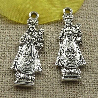 Free Ship 240 pcs tibetan silver mother and son charms 27x10x2mm #4470
