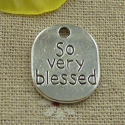 free ship 62 pieces tibetan silver so very blessed charms 22x18mm #4029