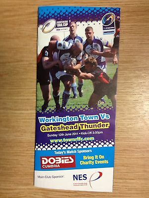 2011 Workington Town v Gateshead Thunder