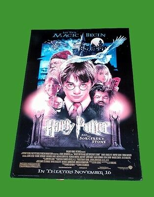 Harry Potter ORIGINAL MOVIE POSTER  'The Sorcerer's Stone' 2001 one sheet