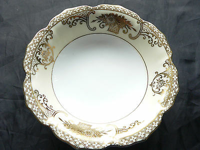 Noritake, small  China Bowl, Gold Flower design, Japan