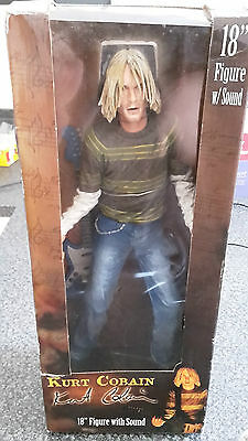 "Kurt Cobain 18"" Nirvana Figure with Sound - By Neca. Rare, Collector's Item"