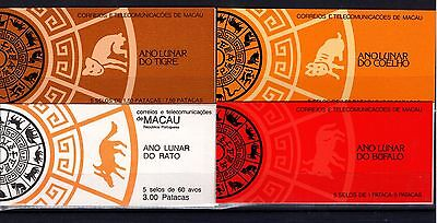 P28862/ Macao – 1984 / 1987 Carnets Neufs / Mint Mnh Booklets 130 €