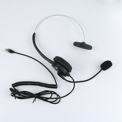 Call Center Telephone/IP Phone Headset with Boom Mic 4-pin RJ9 Modular Connector