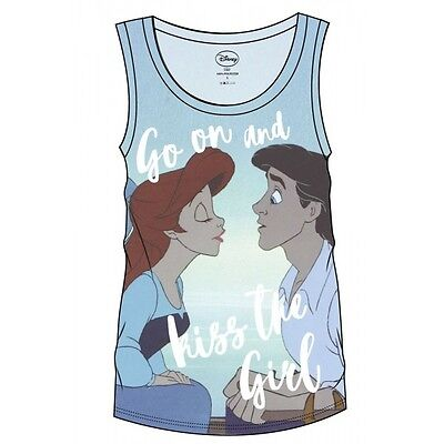 The Little Mermaid Sublimation Girlie Tank Top Kiss The Girl Taglia S