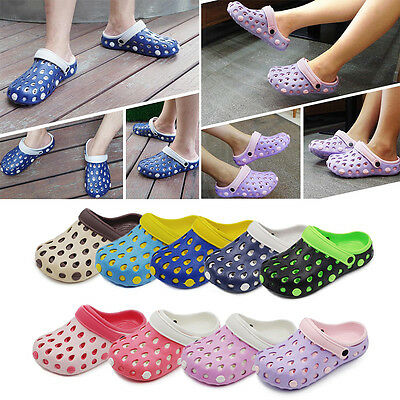 Mens Womens Clogs Flip Flops Beach Sandals Couple Slippers Hollow Out Pool Shoes