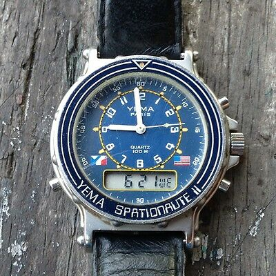 Montre chronographe Yema Spationaute 2 1985 vintage space watch