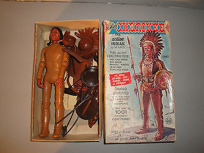 Marx Chief Cherokee In Original Box ( Early Version ) Johnny West