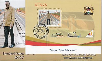 2017 Kenya SGR Railway China NEW ISSUE May 31 souvenir sheet FDC