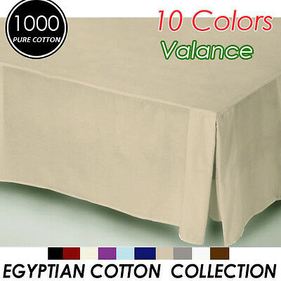 1000TC Egyptian Cotton High Quality Valance King Size in Mocha