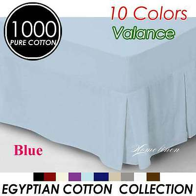 High Quality 1000TC Egyptian Cotton High Quality Valance Queen Size-Blue