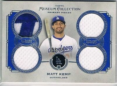 2013 Topps Museum Collection Primary Pieces Quad Relics #MK Matt Kemp #58/99