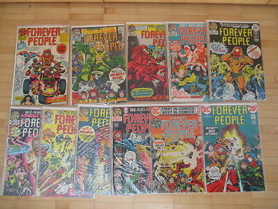 Forever People 1,2,3,4,5,6,7,8,9,10,11  complete Jack Kirby   US DC Comics  1971