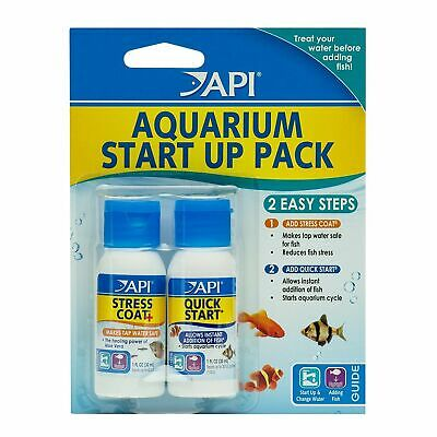 API Aquarium Start Up Pack Tap Safe Conditioner Stress Coat Quick Start 2 x 30ml