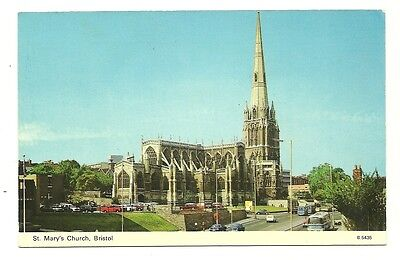 Bristol - a photographic postcard of St. Mary's Church