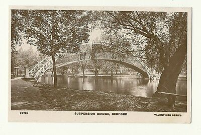 Bedford - a photographic postcard of the Suspension Bridge
