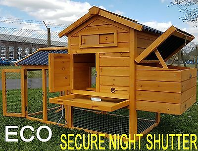 Cocoon Chicken Coop Rabbit Hutch Guinea Pig & Secure Night Shutter & Eco Roofs