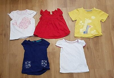 baby girls 3-6 months tshirts x 5 short sleeve Sumner holiday