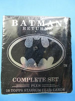 TOPPS Batman Returns Movie Cards Stadium Club FACTORY SEALED Complete SET 1992