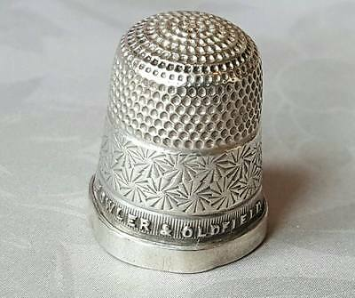 Antique Sterling Silver Thimble Birmingham 1929 Fowler & Oldfield
