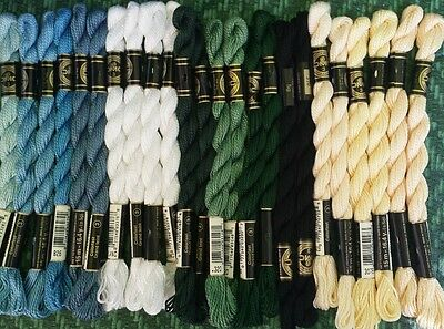 DMC embroidery floss Perle Pearl no 3 24 skeins colors listed