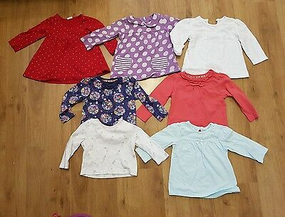 large bundle baby girls 3-6 months tops x 6 long sleeve tops