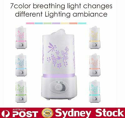 New 7 LED Colors Light Essential Oil Air Purifier Humidifier Aroma Diffuser XT
