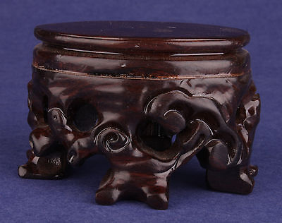 Solid Wood Carving Exquisite Snuff Bottle Decoration Base Collectable