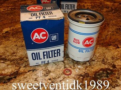 (2)....'NOS' AC-PF4 Oil Filter......Corvair Oil Filter PF4........#5575538