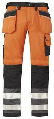 Snickers 3233 High-Vis Holster Pocket Trousers, Work Class 2 Orange