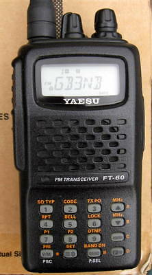 Boxed Yaesu FT60E 2m/70cm Amateur Radio Bands with manual etc