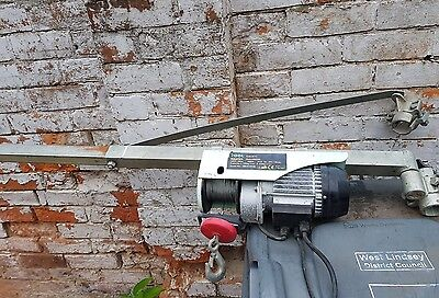 scaffold swing arm and electric hoist, winch
