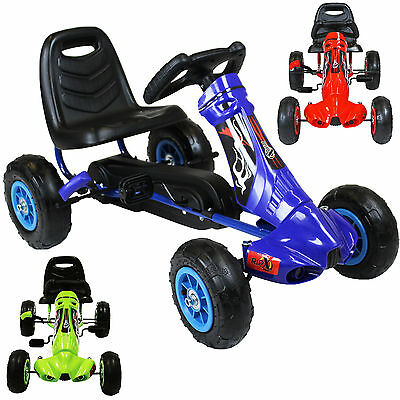 RIP-X Childrens 'My First' Go Kart Kids Pedal Ride On Car Racing Toy Tyres