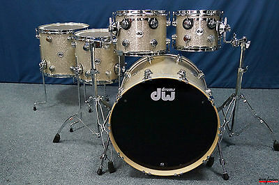 """DW USA Collector's Series Finish Ply Shellset in """"Broken Glass"""" 22,10,12,14,16"""""""