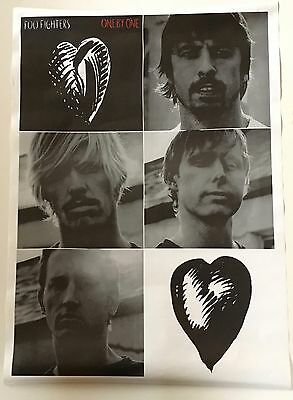 "FOO FIGHTERS Vintage 2002 PROMO 25""x35"" Poster One By One w/ Pettibon art / NM"