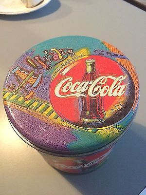 """Coke ALWAYS Coca Cola Psychedelic Canister Tin 4 by 5"""""""