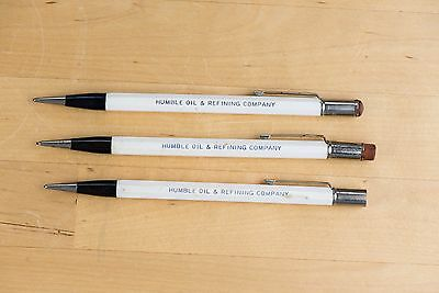 vintage 3x HUMBLE OIL MECHANICAL PENCILS Autopoint USA