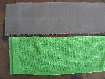 8 Rolls Material for Rug Braiding, Green & Brown colors, 1000-ft. total