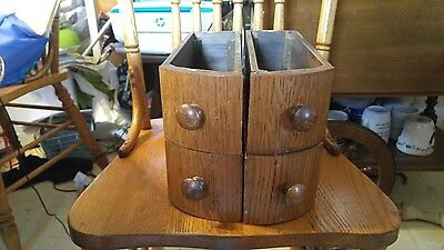Vintage 4 NEW HOME  Treadle Sewing Machine Wooden Cabinet Drawers Curved