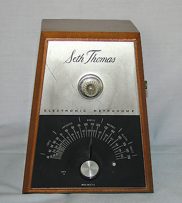 Vintage Seth Thomas Electric METRONOME Model S 962-000 - Good Condition ~ Works