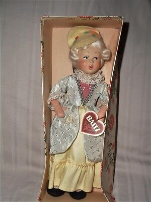 Vintage Baitz Costume Doll With Hand Painted Face Austria