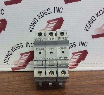 Lot of 3 Buss CHM1I Fuse Holders